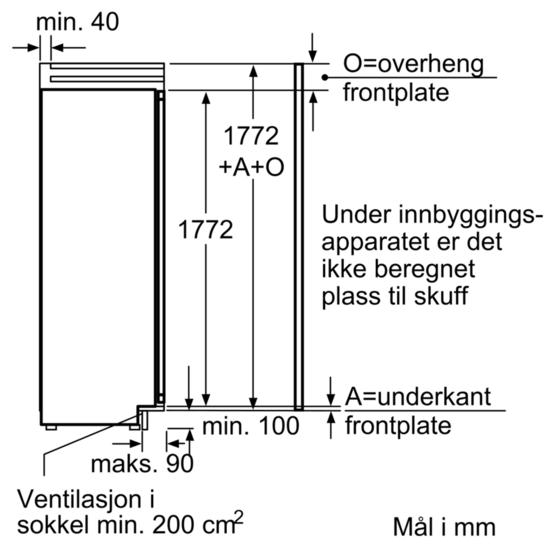 Storslått Siemens integrert kjøleskap 177,2 cm - Homestore.no YX-42